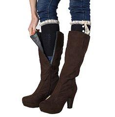HP95(TM) Womens Crochet Knitted Lace Button Trim Boot Cuffs Toppers Leg Warmers Socks (D) HP95(TM) http://www.amazon.com/dp/B01488OOQ0/ref=cm_sw_r_pi_dp_f.4bwb078BNSH