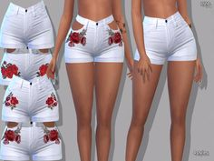 The Sims Resource: Summer White Denim Jeans Shorts by Pinkzombiecupcakes The Sims 4 Pc, Sims Four, Sims 4 Tsr, Sims Cc, Sims 4 Mods, Sims 4 Cc Kids Clothing, Teen Clothing, Sims 4 Characters, Sims4 Clothes