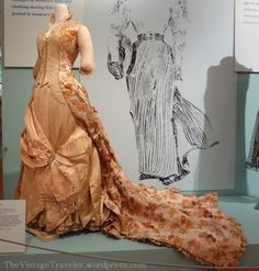 "Museums | The Vintage Traveler | DAR ""New Woman"" exhibit 1888 Worth evening gown"