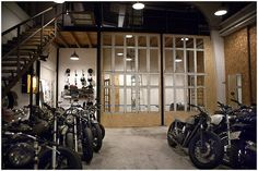 Vintage motorcycle workshop