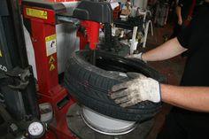 Cambio de neumático.