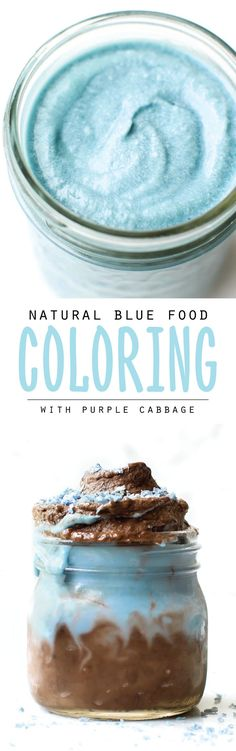 How to make natural blue food coloring with just 2 ingredients: red cabbage and baking soda. Step-by-step guide + VIDEO tutorial + blue smoothie recipe!