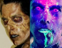 1st profile pic (10/5/09) vs. current profile pic (12/10/16). Seven years and the only thing that's changed is the type of zombie I am.  #makeup #makeupfx #mufx #art #artist #zombie #horror #blood #profile #facebook #dead #neon #color #paint #livingdead #brains #instashare #sendmorecops