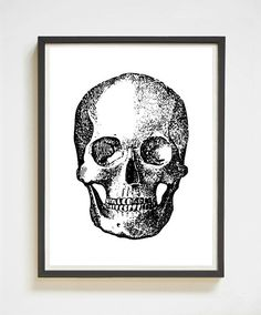 A black & white, instant download of this skull print. Its a no brainer (sheesh, sometimes I embarrass myself)! This would work great in an anatomy classroom or a medical office! Love the look of this one? You'll like these, too: http://etsy.me/2fZNTjH   Skull Print | Instant Download | Printable Art | Black & White | Skull Drawing | Wall Art | Apartment Decor | Human Anatomy | Medical Poster