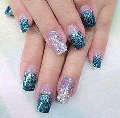 Striking nail art fashion for square nails for the perfect party looks
