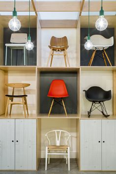 The chair wall in our Sheffield showroom :-) Photography by Gareth Gardner.