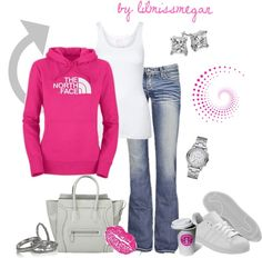 """Comfy & Casual - North Face Style!"" by lilmissmegan on Polyvore"