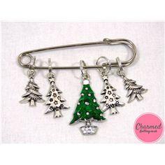 Christmas Tree Lights - Silver Knitting Stitch Marker Set