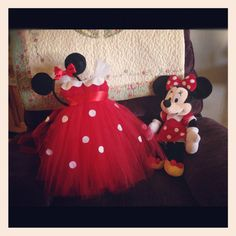Minnie Mouse Inspired Tutu Dress Disney by LoveHerTutus on Etsy, $40.00