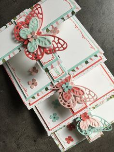 Carte double Z anniversaire et son tutoriel par Marie Meyer Stampin up - http://ateliers-scrapbooking.fr/