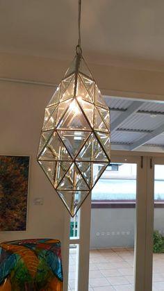 Pendant lights to last a life-time! Geometric Pendant Light, Hanging Lights, Modern Hanging Lights, Stained Glass Light, Modern Pendant Light, Stained Glass Lamp Shades, Clear Glass Pendant Light, Stained Glass Lamps, Glass Lighting