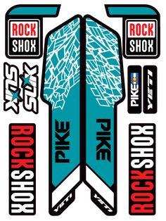 New Stickers RockShox Boxxer Tatoo girls mountain bike decals fork custom