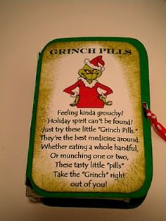 Grinch Pills --Free printable!