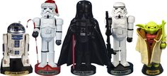 These Star Wars nutcrackers. 27 Things That Christmas-Obsessed Parents Need Right Now Star Wars Christmas, Old Christmas, Disney Christmas, Christmas Ideas, Christmas Gifts, Christmas Decorations, Christmas Ornaments, Nutcracker Ornaments, Nutcracker Christmas