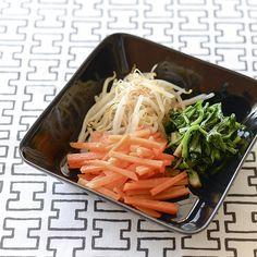 【料理家さんの定番レシピ】茹でて和えるだけ。もやし・にんじん・ほうれん草のナムル。
