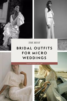 We have listed some beautiful dress options for your small wedding ceremony, plus tips on how to style a look which is appropriate for a covid-wedding. The bottom line: the pandemic doesn't mean you have to miss out on great wedding style! Wedding Looks, Bridal Looks, Bo And Luca, Minimalist Wedding Dresses, Bridal Outfits, Wedding Dress Styles, Unique Weddings, Wedding Ceremony, Beautiful Dresses