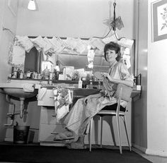 58x48 cm frame with high quality RA4 print made In Australia. Actress Maggie Smith in her dressing room April 1963. . Image supplied by Memory Lane Prints. Product ID:dmcs_21532022_8169_1488 British Actresses, Actors & Actresses, Maggie Smith Young, Companion Of Honour, Renee Zellweger, Dressing Room, Downton Abbey, Backstage, Home Decor