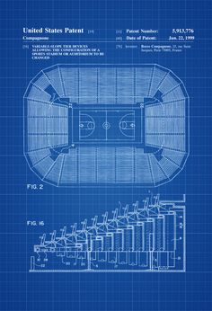 Stadium Seating Patent 1920 - Patent Print Sports Art Coach Gift Auditorium Seating Basketball Court Retractable Arena Seating by PatentsAsPrints