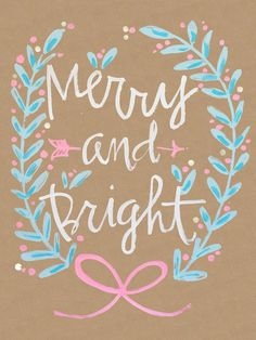 ...Merry and Bright 2 of 2 Art Print by lay baby lay