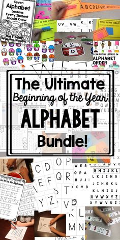 So many activities.  Letter recognition, Letter naming fluency, matching, and so…
