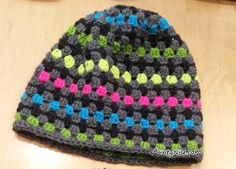 Crochet Granny Circle Hat Beanie 2 size Pattern Available!