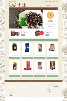 Template 48938 - Coffee House Responsive Magento Theme
