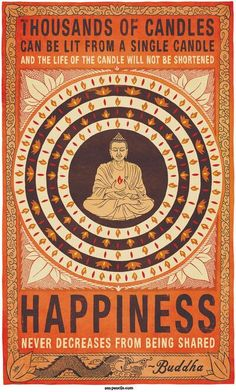 Words of Wisdom #Buddha #Happiness #sharing #life #quote #learnings #experience #lifelessons