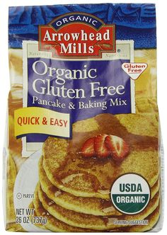 Arrowhead Mills Organic Gluten Free Pancake and Baking Mix, 26 Ounce *** Read more reviews of the product by visiting the link on the image.