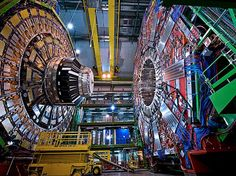 The magnet in the CMS detector produces a magnetic field 100,000 times as strong as Earth's. (Gobin / CERN)