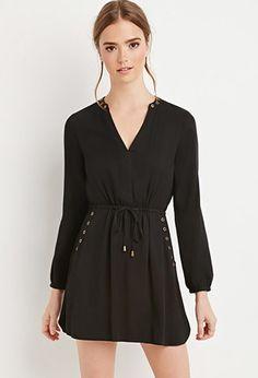 Grommet Drawstring Dress | Forever 21 - 2000163068