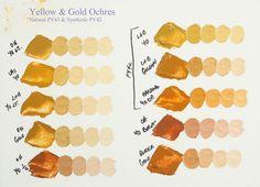 Yellow and Gold Ochre Comparison - WetCanvas