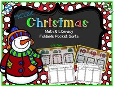 K-2.  This Christmas freebie includes 2 Foldable Pocket Sorts: 1 math - greater than, less than, equal to 10 with recording page 1 literacy - sorting syllables into 1, 2, or 3 syllables with recording page  These are great to use during centers, in small groups, or as a cooperative group activity.