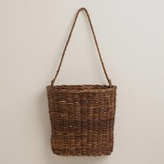 One of my favorite discoveries at WorldMarket.com: Kristina Flatback Hanging Basket