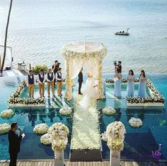 This but instead red roses A unique setting for a truly stunning wedding at Conrad Koh Samui dreamt up by Bliss Events and Weddings team. Photo by blisseventthailand via IG. Host a wedding in Koh Samui. Enjoy a wealth of luxury wedding services offered at Wedding Ceremony Ideas, Beach Wedding Reception, Beach Ceremony, Beach Wedding Decorations, Beach Weddings, Weddings In Hawaii, Wedding Tips, Unique Wedding Themes, Wedding Designs