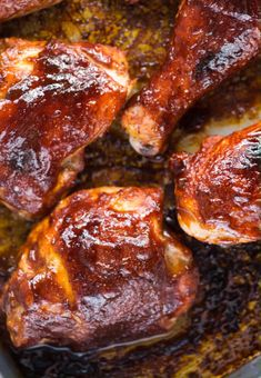 Baked Bbq Chicken Thighs, Easy Bbq Chicken, Oven Chicken Recipes, Cooking Recipes, Chicken Thigh Recipes, Bbq Chicken Legs Crockpot, Fried Chicken Drumsticks, Easy Oven Baked Chicken, Chicken Drumstick Recipes