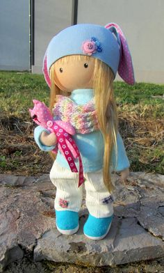 CLOTH DOLL handmade doll fabric doll Emily от NICEDOLLSANDRABBITS