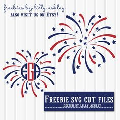 4th Of July Firework Monogram Svg Cricut Amp Silhouette