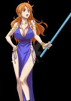 Manga Anime One Piece, One Piece Fanart, Chica Anime Manga, Anime Girl Hot, Kawaii Anime Girl, Manga Girl, One Piece Pictures, One Piece Images, Nami Swan