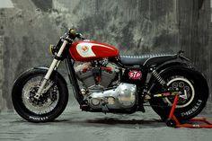 Meet Gabrielle, a Harley Dyna custom with a street tracker attitude. - Bike EXIF