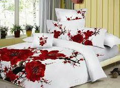 The painting bedding sets has a tropical texture design, and creates a sensual decor for a fashionable bedroom. A strain plum blossom in the white quilt, bring clear feeling to anyone who had bought the Plum Bedding Sets. Red Bedding Sets, Plum Bedding, Bed Comforter Sets, King Size Bedding Sets, 3d Bedding, Cotton Bedding Sets, Bed Linen Sets, Luxury Bedding, Floral Comforter