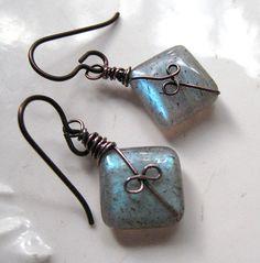 Wire & bead earrings