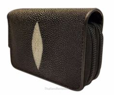 Black Genuine Stingray Leather Skin Zipper Wallet Coin Purse Card Wallets Mens  http://www.ebay.com/itm/152340864406  #ebay #paypal #Thailandfantastic #Black #Genuine #Stingray #Leather #Skin #Zipper #Wallet #Coin #Purse #Card #Wallets #Mens #Clothing #Accessories