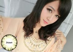 Buy Lovely Doll Comfortable Soft Colored Contact Lenses Cosplay Brown