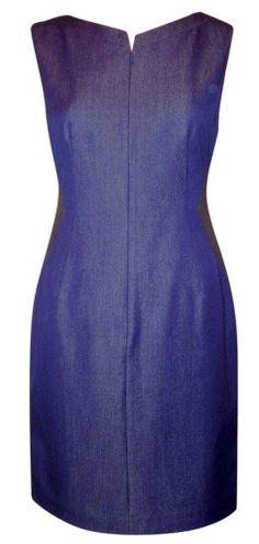 3b52b9c78be T Tahari Libby Dress Stretch Zip Front Tonal Denim Dress Size 4 Retail   138.00 Our 4