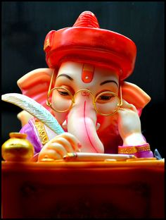 On The Occasion Of . SKLE wishes a very Happy Ganesh Chaturthi to all Skleians. May Lord Ganesha brings all the happiness & love SkLearnerEducation Jai Ganesh, Ganesh Lord, Shree Ganesh, Ganesha Art, Shiva Art, Hindu Art, Shri Ganesh Images, Ganesha Pictures, Lord Krishna Images