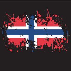 Norwegian flag ink splash