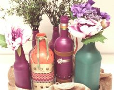 Decorative bottles by IneaBellaCreazioni on Etsy