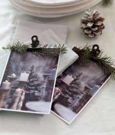 """This simple Christmas decoration idea is from our feature """"White Christmas"""""""