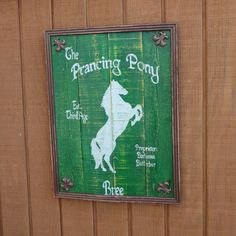 The Prancing Pony Inn Sign  - Lord of the Rings & The Hobbit