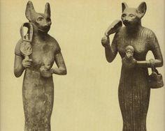 The Egyptian Goddess Bastet. Symbol of Femininity and Maternity.
